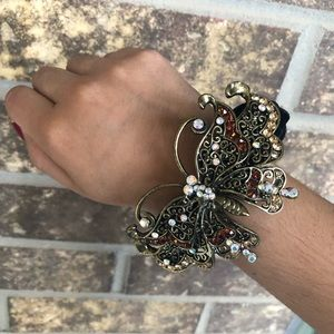 Accessories - Black Velvet Scrunchy with Butterfly